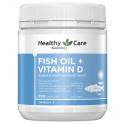 [헬씨케어] 피쉬오일 + 비타민 D3 200캡슐